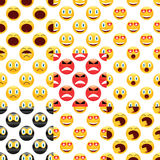 Smiley pattern set Royalty Free Stock Photos