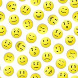 Smiley pattern Royalty Free Stock Image