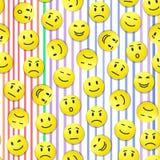 Smiley pattern Royalty Free Stock Photos