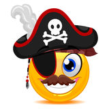 Smiley pirat ilustracja wektor