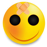 Smiley with plaster. Vector art illustration positive Stock Images