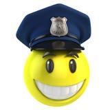 Smiley policjant royalty ilustracja