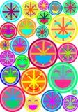 Smiley Pop Art Imagen de archivo libre de regalías