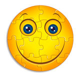 Smiley puzzle. Smiley face on a white background Stock Photos
