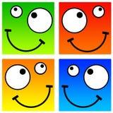 Smiley quadrati Fotografia Stock Libera da Diritti