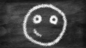 Smiley que passa do estado triste a feliz O movimento para a animação ilustração do vetor