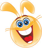 Smiley. Rabbit. Easter. Royalty Free Stock Photo