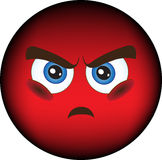 Smiley, resentment, anger. Stock image - smiley anger, resentment Stock Photos