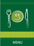 Smiley restaurant menu design Stock Images