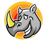 Smiley Rhinoceros Royalty-vrije Stock Foto
