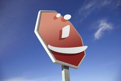 Smiley road sign Stock Photos