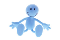 Smiley Rubber Figure. On Isolated White Background Royalty Free Stock Image