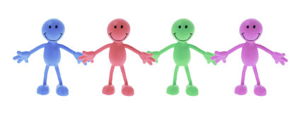 Smiley Rubber Figures royalty free stock photography