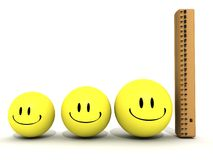 Smiley ruler height Royalty Free Stock Photo