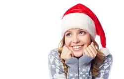 Smiley Santa girl Royalty Free Stock Photos