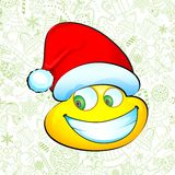Smiley with Santa Hat Royalty Free Stock Photo