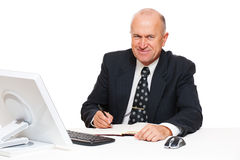 Smiley senior businessman Royalty Free Stock Image