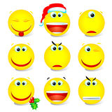 Smiley set 002. Yellow vector smiley set 002 Stock Photo