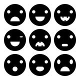 Smiley set icons. Smiley set icon, style of glue on white background vector illustration