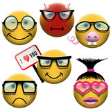 Smiley set Royalty Free Stock Photography
