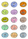 Smiley set. On a white background royalty free illustration