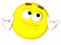 Smiley-Shaka Sign Stock Photos