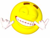 Smiley-Shaka Sign Royalty Free Stock Photography