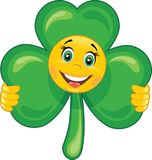 Smiley shamrock Stock Images