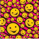 Smiley signs on pink background Royalty Free Stock Photo
