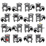 Smiley skunk. S individually grouped for easy copy-n-paste Stock Image