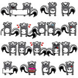 Smiley skunks Stock Photos