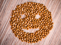 Smiley smiles from soybeans Stock Photography