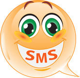 Smiley. SMS Photographie stock