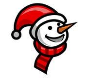 Smiley Snow Doll Royalty-vrije Stock Afbeeldingen