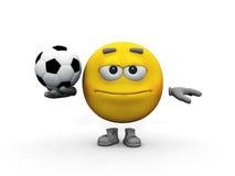 Smiley and soccer ball Stock Photos
