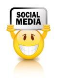 Smiley social dos media ilustração royalty free