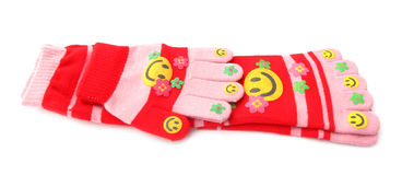 Smiley socks and gloves Stock Photos