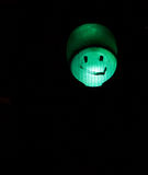 Green traffic light smiley Stock Images