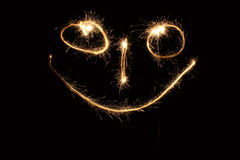 Smiley sparkler Royalty Free Stock Photos