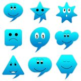 Smiley Speech Bubble Royalty Free Stock Photography