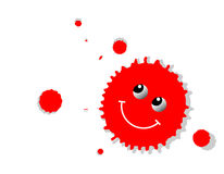 Smiley Splat Royalty Free Stock Images