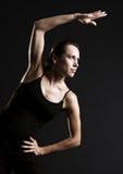 Smiley sportswoman training with pleasure Royalty Free Stock Photos