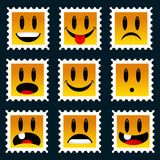 Smiley Stamps Stock Photo