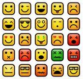 Smiley stawia czoło ikony Fotografia Royalty Free