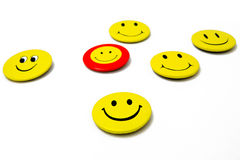 Smiley stickers. Smiley face stickers on white Stock Image