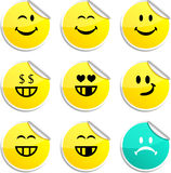Smiley Stickers. Royalty Free Stock Photography
