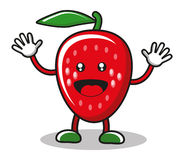 Smiley strawberry Stock Image