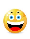 Smiley su bianco Fotografia Stock Libera da Diritti