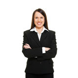Smiley successful businesswoman Stock Photos