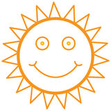 Smiley sun Stock Images